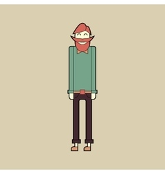 Flat character stylish bearded hipster vector image
