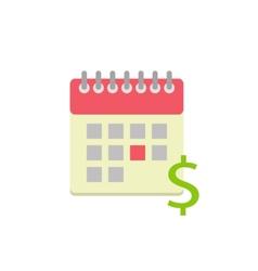 Flat style calendar icon vector
