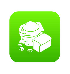 flour production icon green vector image