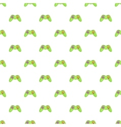 Game controller pattern cartoon style vector