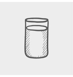 Glass of soda sketch icon vector