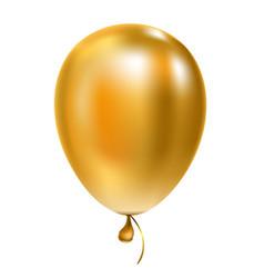 Golden helium balloon birthday baloon flying vector