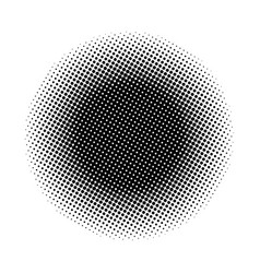 halftone circle symbol icon design vector image