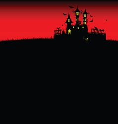 Halloween castle red vector