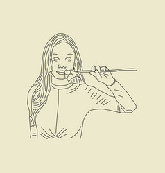 hand drawn sketch girl 30 vector image