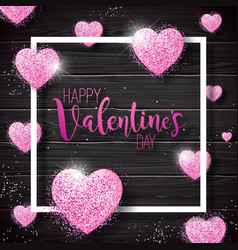 Happy valentines day with pink vector