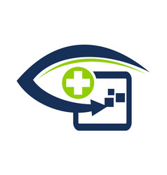 healthcare technology by clinician vector image