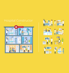 hospital constructor scheme vector image