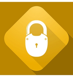 Icon of Padlock with a long shadow vector