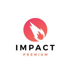 Impact logo icon vector