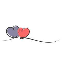 Logo with hearts vector