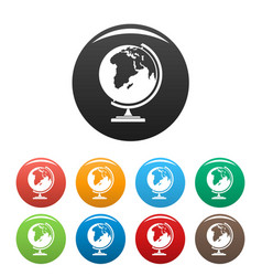 map icons set color vector image