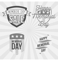Memorial Day vintage Labels Set vector