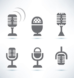 microphones set vector image