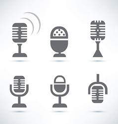 Microphones set vector