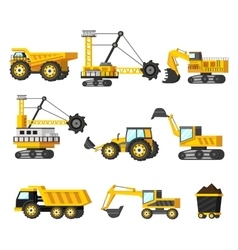 Mining Industry Icon Set vector