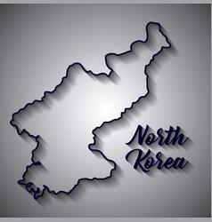 north korea design vector image