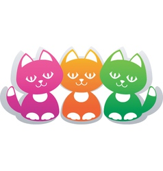 Paper cats vector