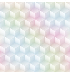 pastel color cube seamless pattern vector image