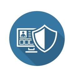 Personal Data Protection Icon Flat Design vector