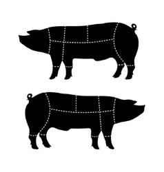 Pork-cutting scheme vector
