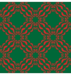 Seamless abstract red green pattern vector