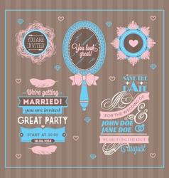 Set of wedding invitations vector image