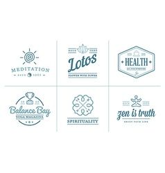 Set of Yoga Zen Sport Elements and Fitness Healthy vector