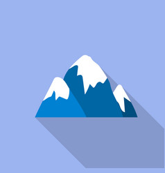 Snow cap mountain icon flat style vector