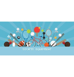 Sports Equipment Flat Icons Display Banner vector