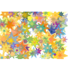 stars colorful texture rays array image vector image