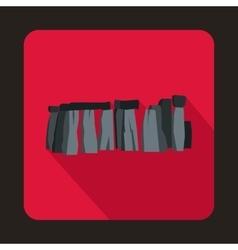 Stonehenge icon in flat style vector image