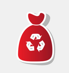 Trash bag icon new year reddish icon with vector