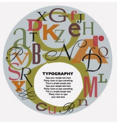 typographic composition vector image