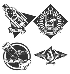 Vintage Water delivery emblems vector
