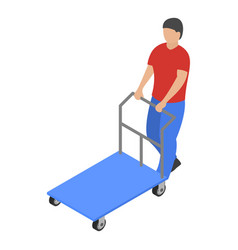 warehouse cart icon isometric style vector image