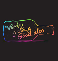 whiskey lettering art vector image