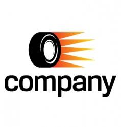 fast car wheel logo vector image vector image