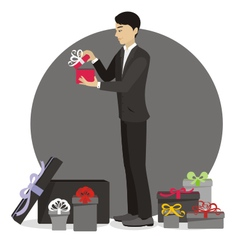 Present for man vector image vector image