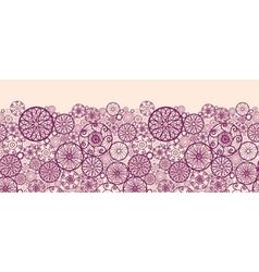 Abstract ornamental circles horizontal seamless vector image