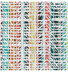Abstract retro colors stripes pattern Seamless vector image vector image