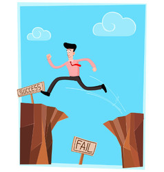 crossing the cliff vector image vector image