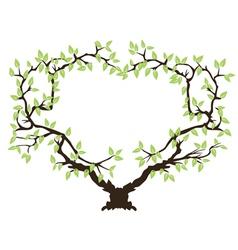green tree frame vector image