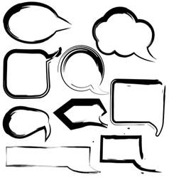 Grunge speech and thought bubbles vector image vector image