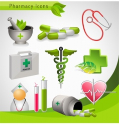 pharmacy icons vector image vector image