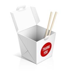 Chinese restaurant take away box vector image