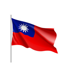 flag of taiwan sign vector image vector image