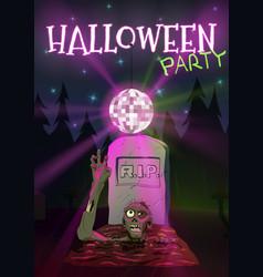 Halloween Zombie pulls hand to vector image vector image