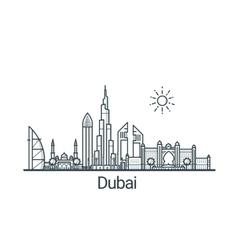Outline Dubai banner vector image vector image