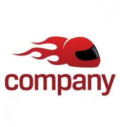 sport helmet logo vector image